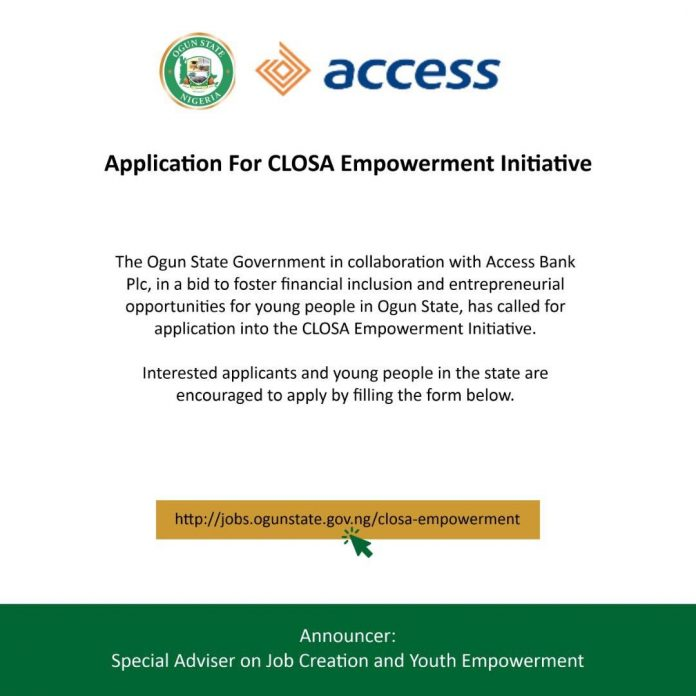 Closa Empowerment Initiative 2020 for Ogun State Youths