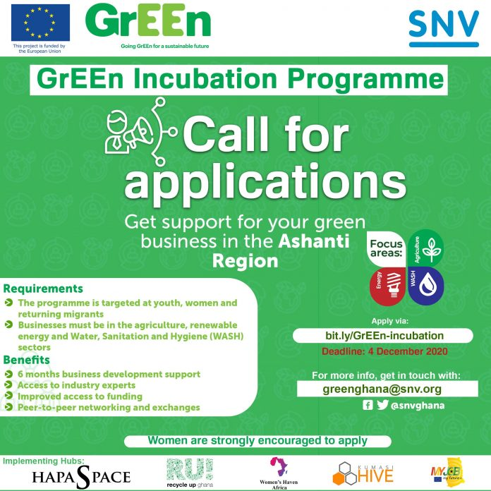 GrEEn Incubation and Acceleration Programme 2021
