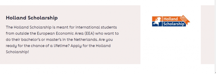 Holland Scholarships for Bachelor's or Masters Study in the Netherlands