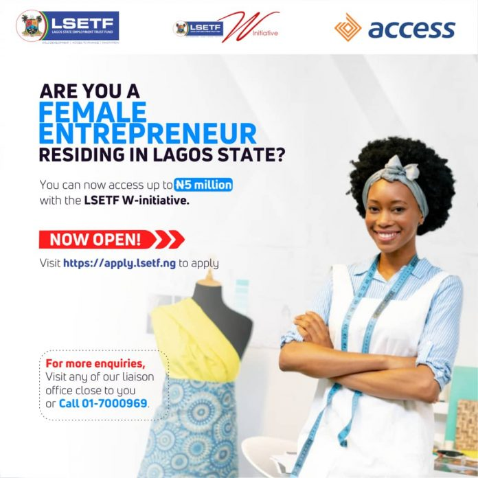 LSETF W-INITIATIVE APPLICATION FOR LAGOS FEMALE ENTREPRENEURS