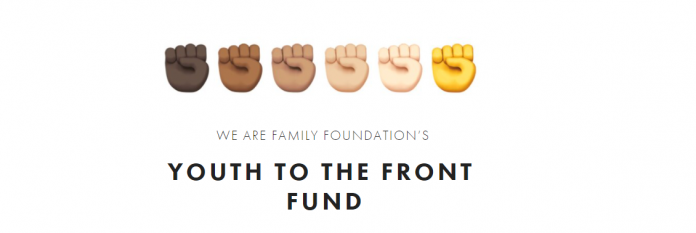 We are Family Foundation 2020/2021 Youth To The Front Fund (YTTFF)