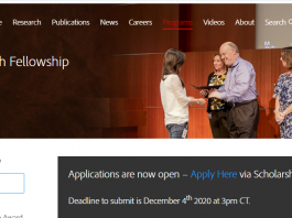Adobe Research Fellowship 2021 Via Scholarship America for Graduate Students Worldwide