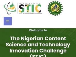 The Nigerian Content Science And Technology Innovation Challenge (STIC)