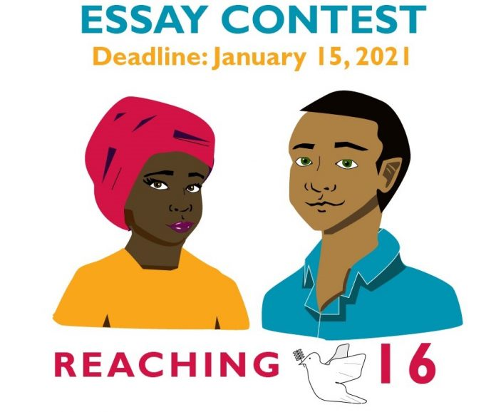 2021 YouthLead #Reaching16 Essay Contest for Young Changemakers