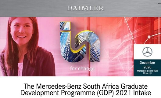 Mercedes-Benz 2021 South Africa Graduate Development Programme (GDP) for South Africans