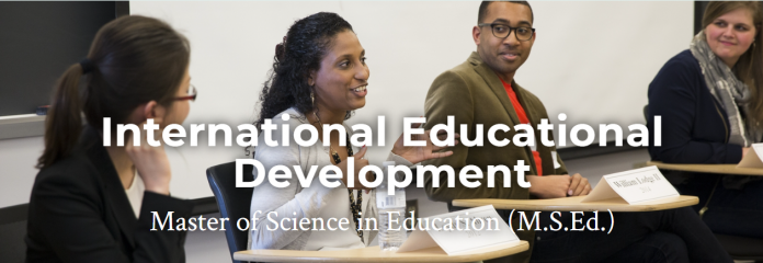 International Educational Development Master of Science in Education 2021 Scholars